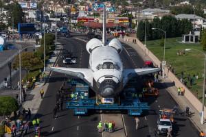 Los Angeles IBEW/NECA labor organizations space shuttle Endeavor PR event marketing